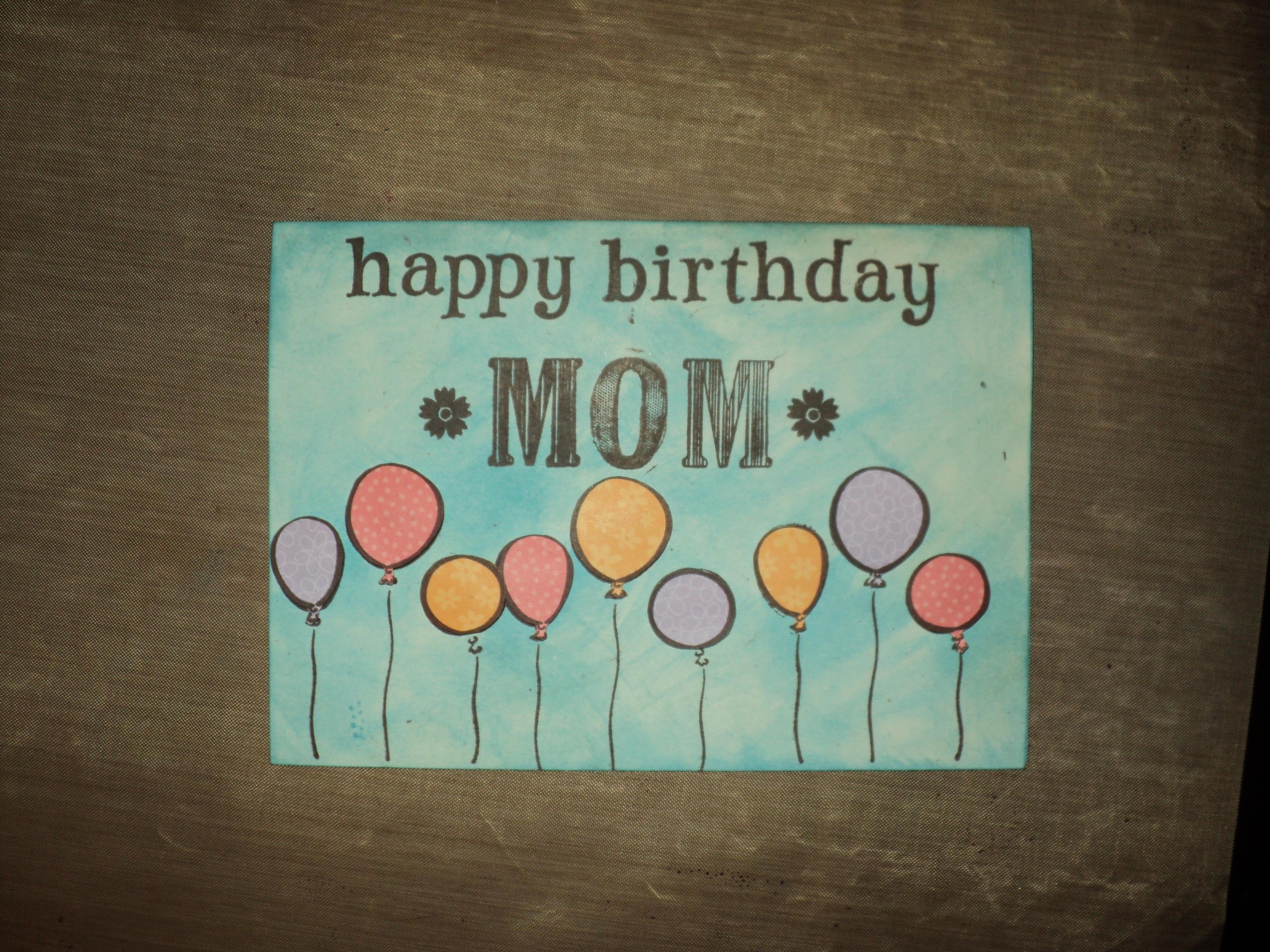 Happy Birthday Craft Ideas For Mom Cute Birthday Gift – Happy Birthday Card Ideas for Mom